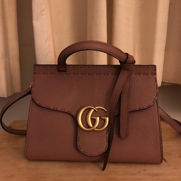 7e4389910 Gucci Bags | Marmont Mini Top Handle Pink | Poshmark